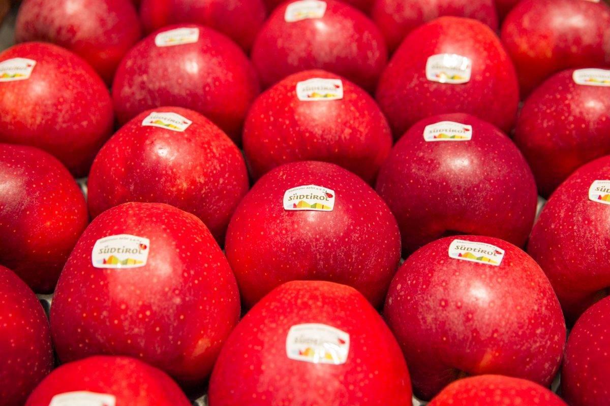 Val Venosta calibrado automático de las manzanas