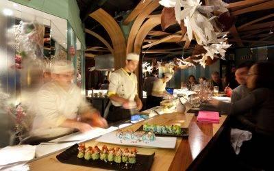 Ikebana innovador restaurante de cocina japonesa y brasileña