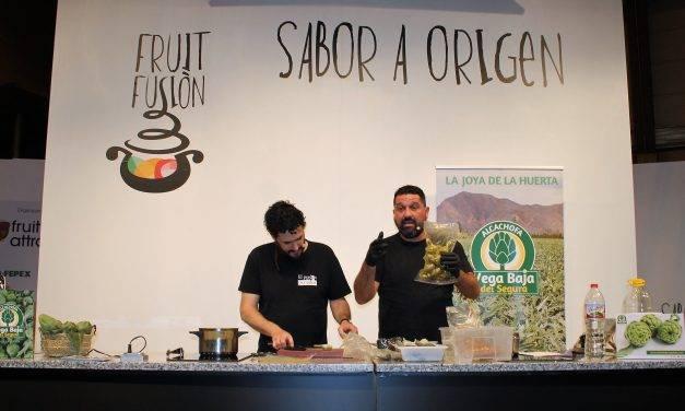 Fran Fernández y diez texturas de alcachofas de La Vega Baja