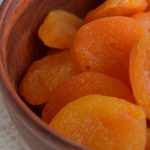 The dried apricots, a tasteful snack