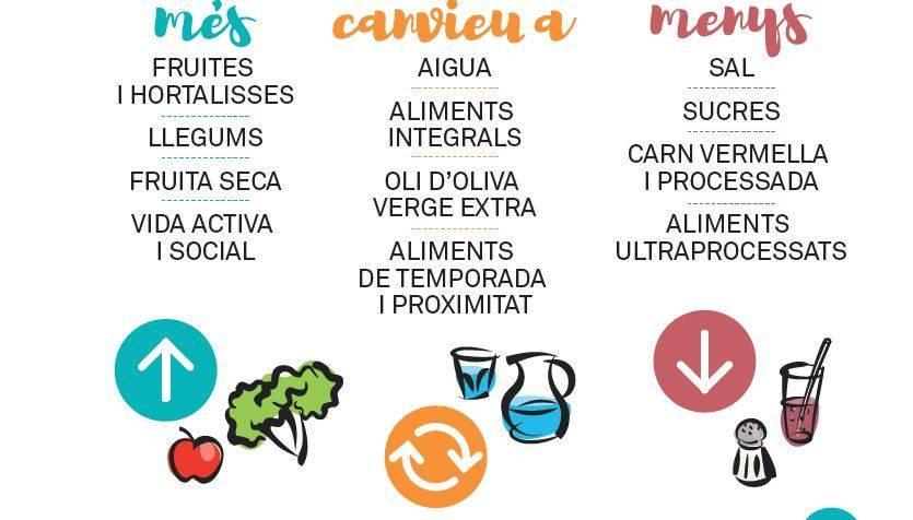 Más frutas y verduras y menos azúcar