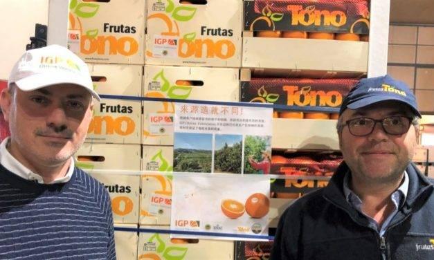 """Las naranjas de IGP """"Cítricos valencianos"""" por primera vez rumbo a China"""