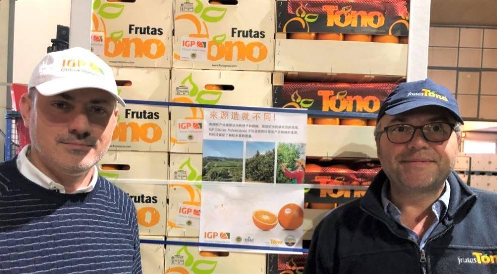 """Las naranjas de IGP """"Cítricos valencianos» por primera vez rumbo a China"""
