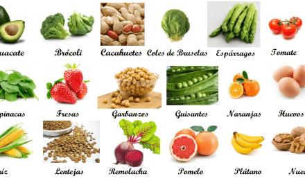 El folato, un nutriente importante para la salud y abundante en los vegetales