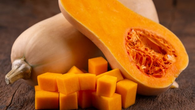 El naranja de la calabaza croquetas