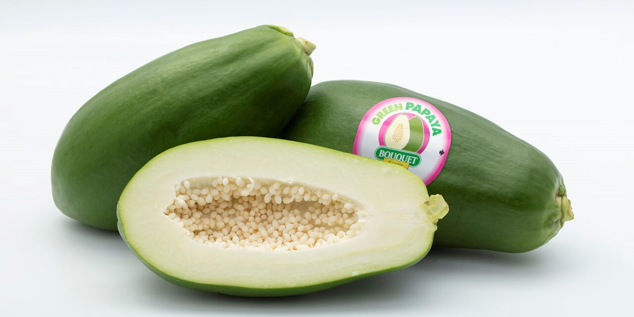 La papaya verde que se consume como una hortaliza