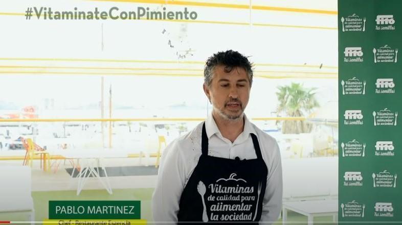 El chef Pablo Martinez, del restaurante Eszencia innova con pimientos